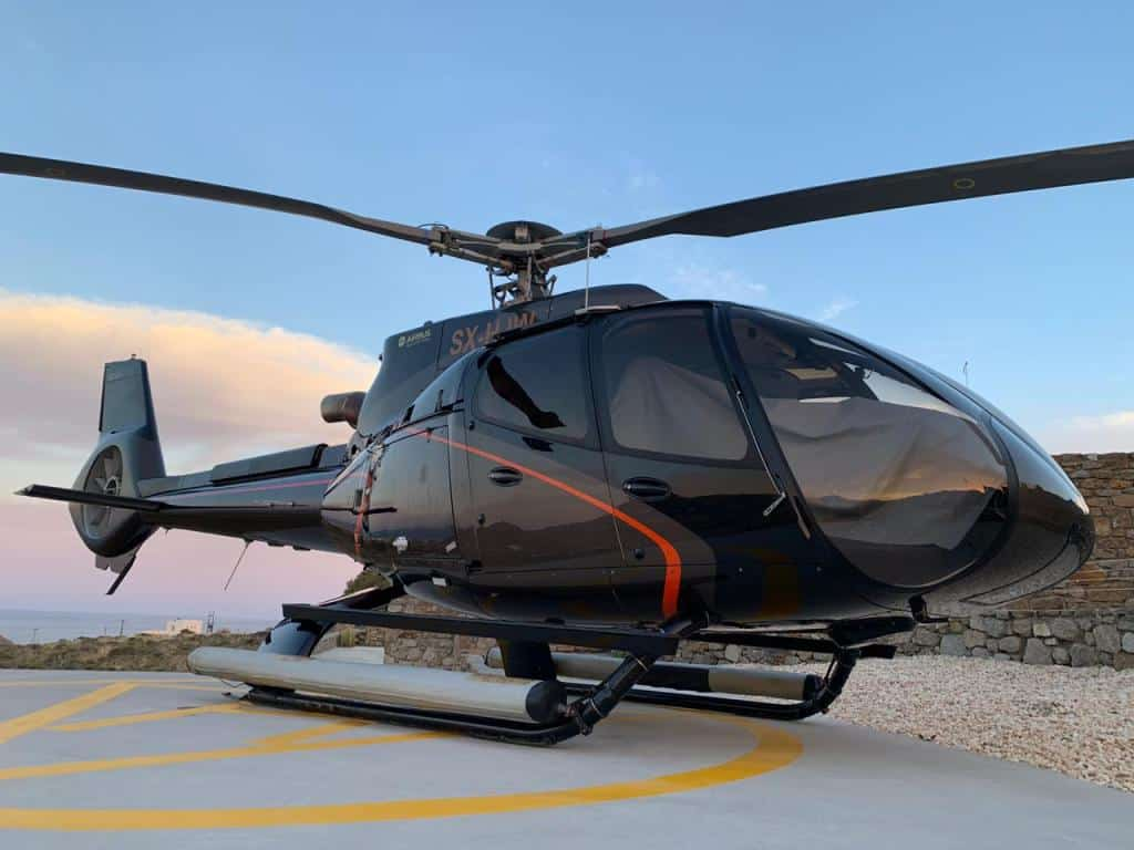 Helicopter Charter Rates Athens to Mykonos