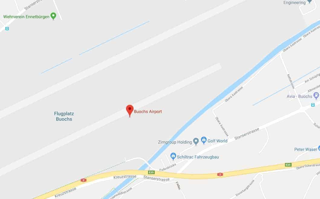 Buochs Airport Map