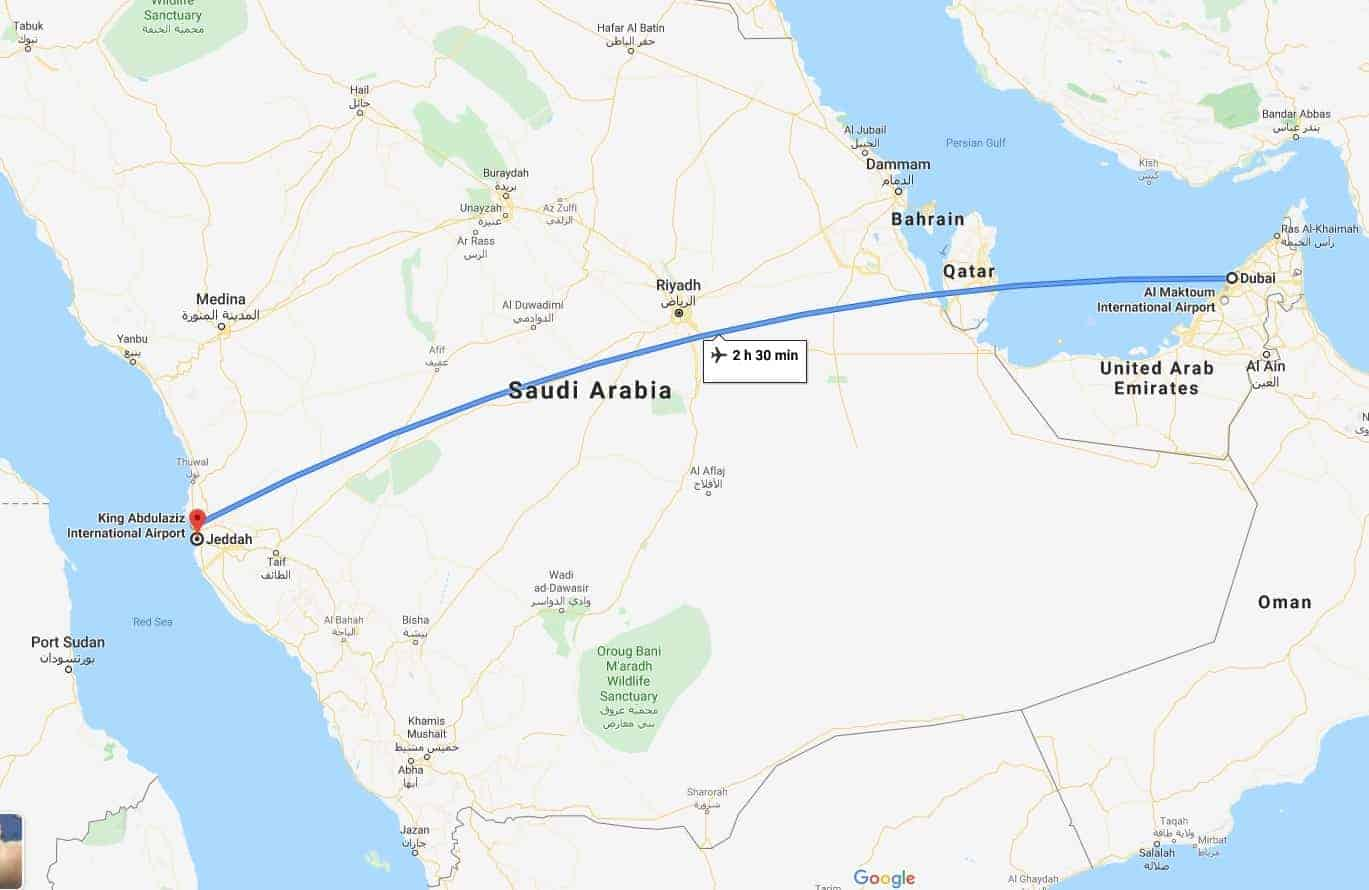 DUBAI TO Jeddah WITH FLIGHT TIMES
